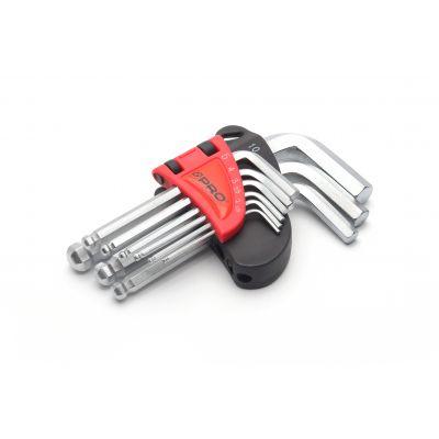 Zestaw 9 szt kluczy hex z kulką krótkie WT-09-HKK