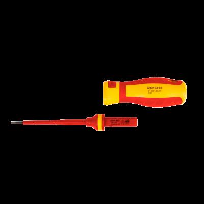 Wymienna końcówka wkrętaka izol. Płaski 0,5x3x100 mm WW-WSL30-100SV
