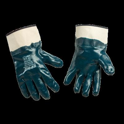 Rękawiczki ochronne z mankietem nitrylowe rozm. 10
