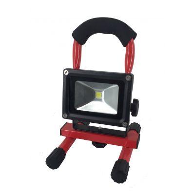 Reflektor LED bezprzewodowy 2200 mah IP54 10 W >40 LM/W