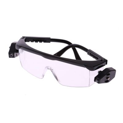 Okulary ochronne przezroczyste z led