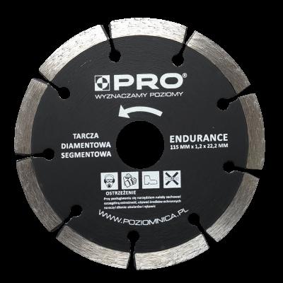 Tarcza diamentowa segmentowa endurance 115x7x1.2x22.2 mm