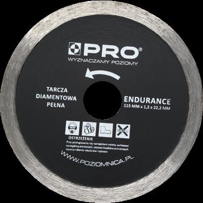 Tarcza diamentowa pełna endurance 115x7x1.2x22.2 mm