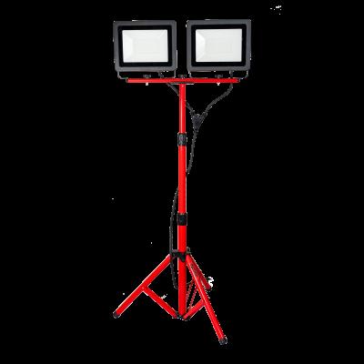 Reflektor LED ze statywem IP65 2x100 W >80 LM/W