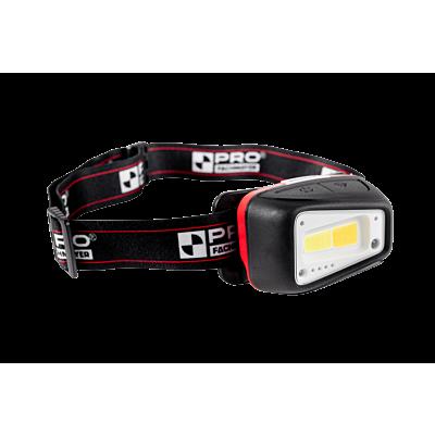 Latarka czołowa LED ciepłe/zimne światło z akumulatorem li-ion i czujnikiem ruchu  660 LM